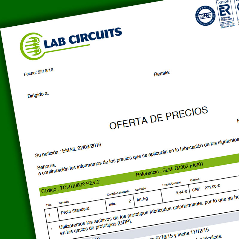 Lab Circuits - Printed Circuit Board Manufacturing - Double