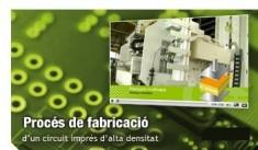 Video del procés de fabricació d'un circuit imprès