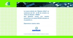 MATELEC 2012: SALON INTERNACIONAL DE MATERIAL ELECTRICO Y ELECTRONICO