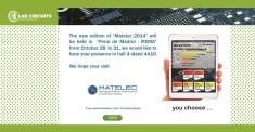 MATELEC 2014: SALON INTERNATIONAL DES SOLUTIONS POUR L'INDUSTRIE ELECTRIQUE ET ELECTRONIQUE