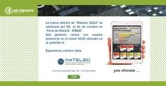 MATELEC 2014: SALONE INTERNAZIONALE DI SOLUZIONI PER L'INDUSTRIA ELETTRICA ED ELETTRONICA