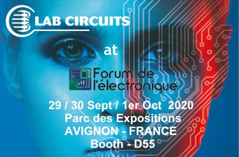 LAB CIRCUITS sera présent au prochain Forum de l'électronique à Avignon.