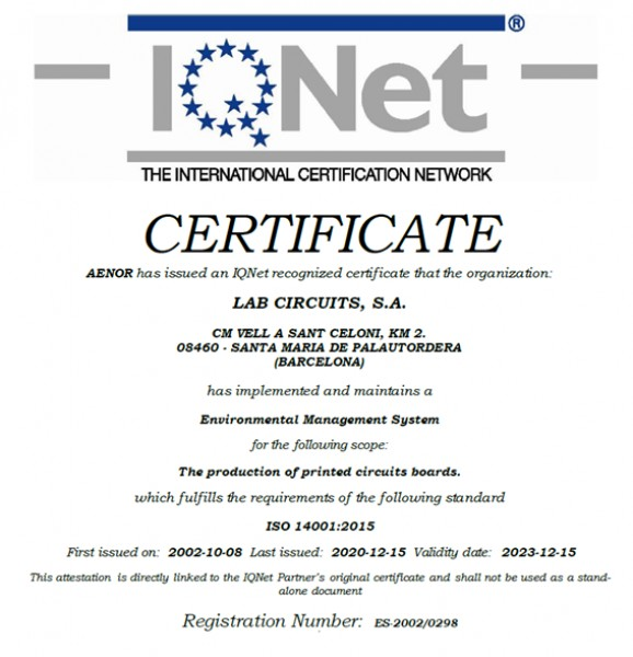 ISO 14001:2015 renouvellement